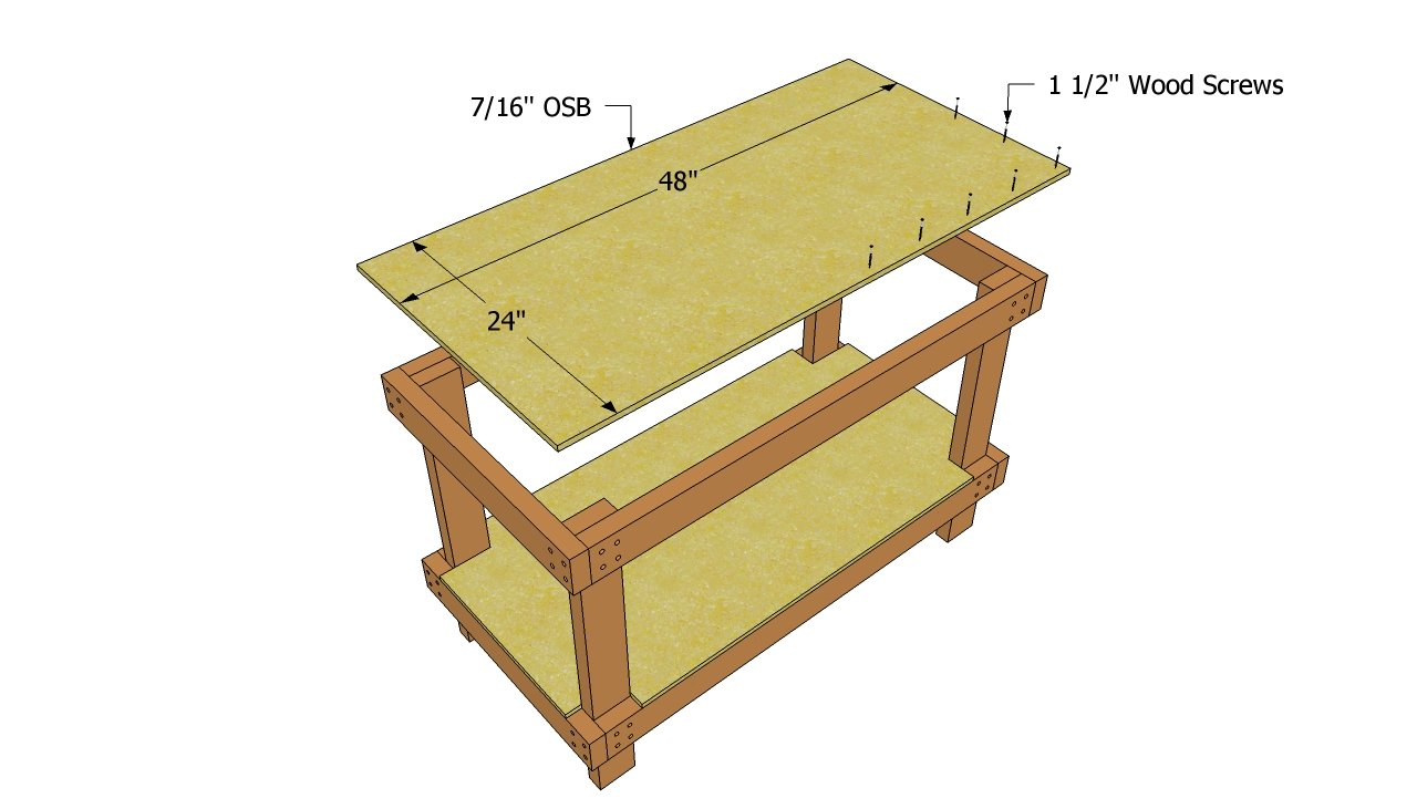 Woodwork Plans To Build Workbench PDF Plans