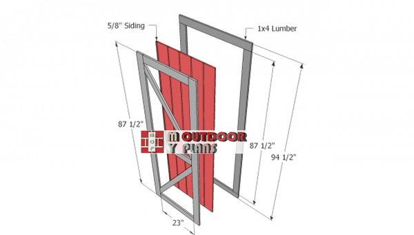 Door-shed-plans