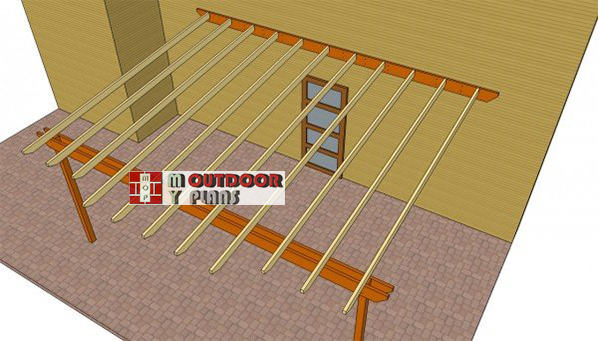 Fitting-the-shade-elements---attached-pergola
