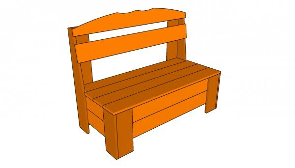 Free outdoor storage bench plans