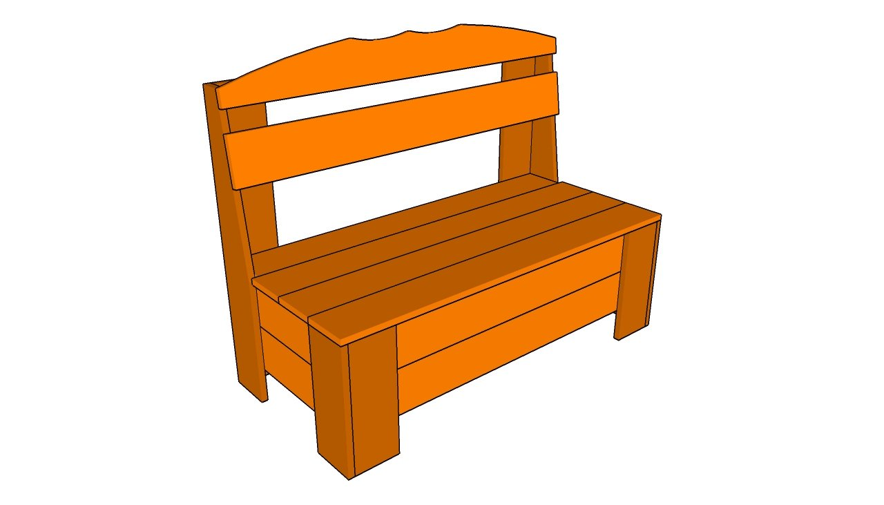 Outdoor wooden bench with storage plans woodproject
