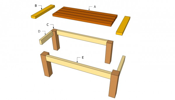 Patio table plans myoutdoorplans free woodworking plans and free patio table plans watchthetrailerfo