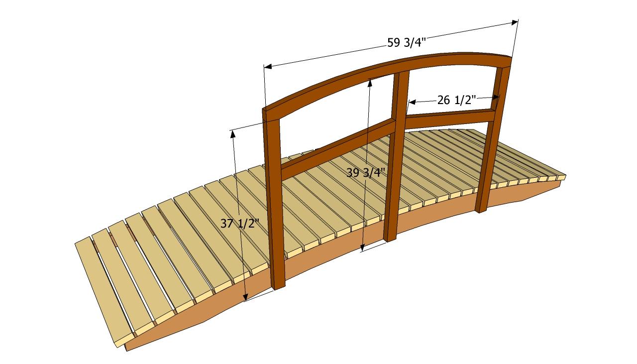 Garden bridge plans | Free Outdoor Plans - DIY Shed, Wooden Playhouse ...