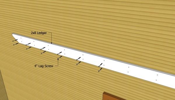 Installing the 2x8 ledger