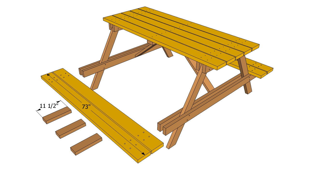 wood table and bench plans