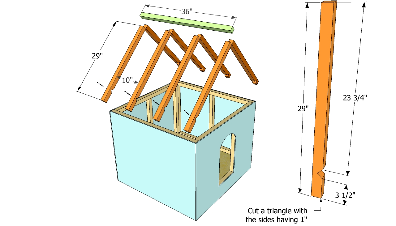 Derang Timber dog house plans
