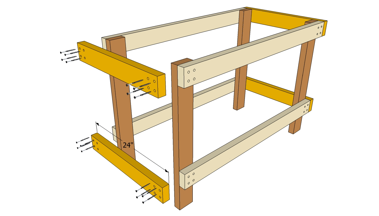 ... Plans Easy Download workbench plans with storage | woodproject