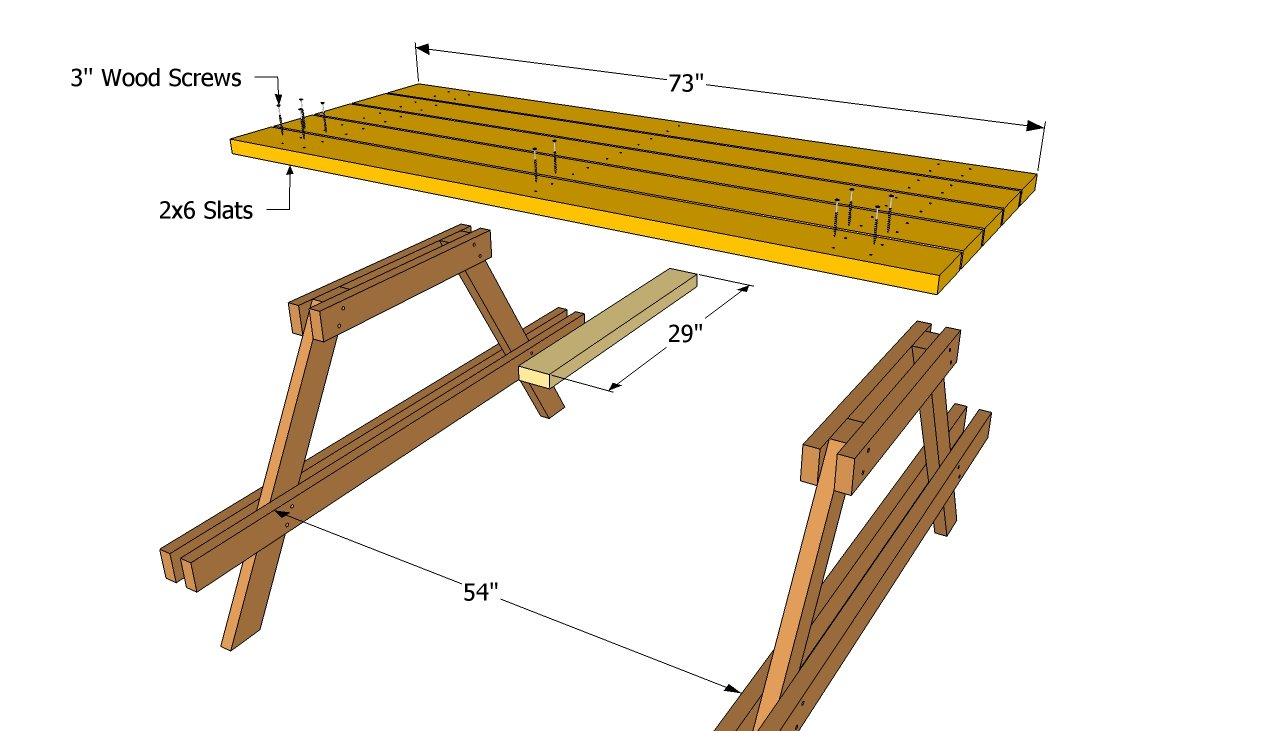 Picnic table plans free | Free Outdoor Plans - DIY Shed, Wooden ...