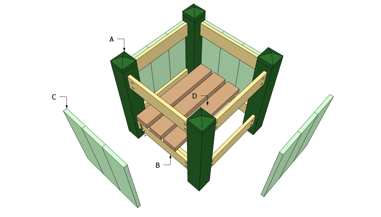 Outdoor planter plans | Free Outdoor Plans - DIY Shed ...