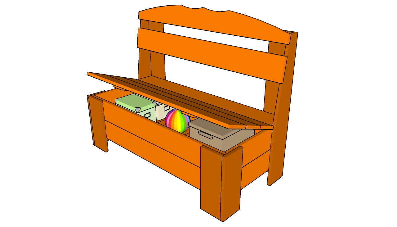Wood Bench With Storage Plans Furnitureplans