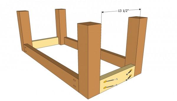 Patio table base plans