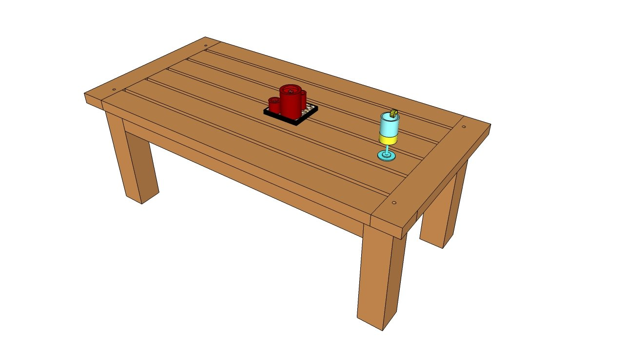 wood outdoor dining table plans | woodideas