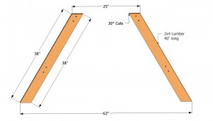 Picnic table leg plans