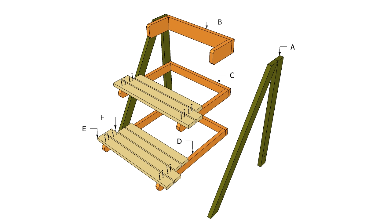 Diy How To Build A Wooden Plant Stand Plans Free