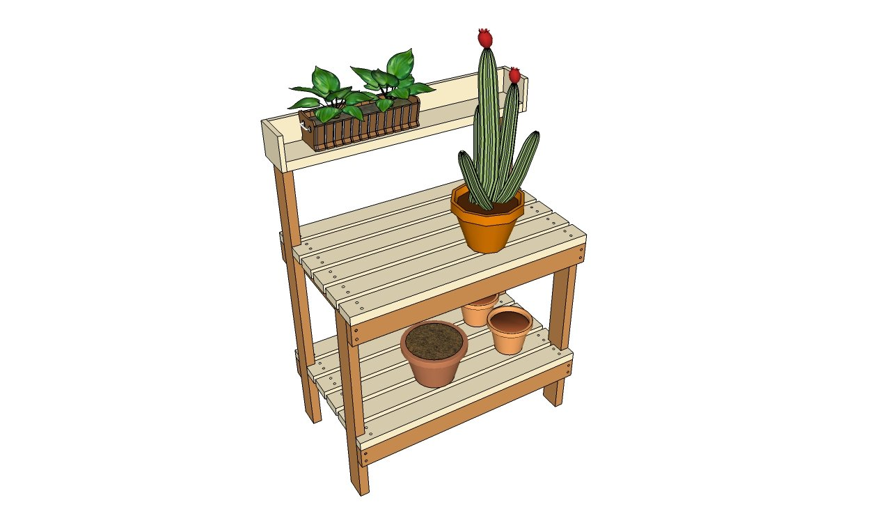 Diy potting table plans woodguides for Garden potting bench designs