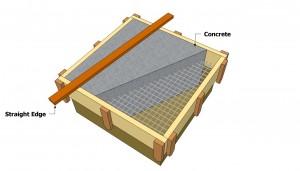 Pouring a concrete foundation