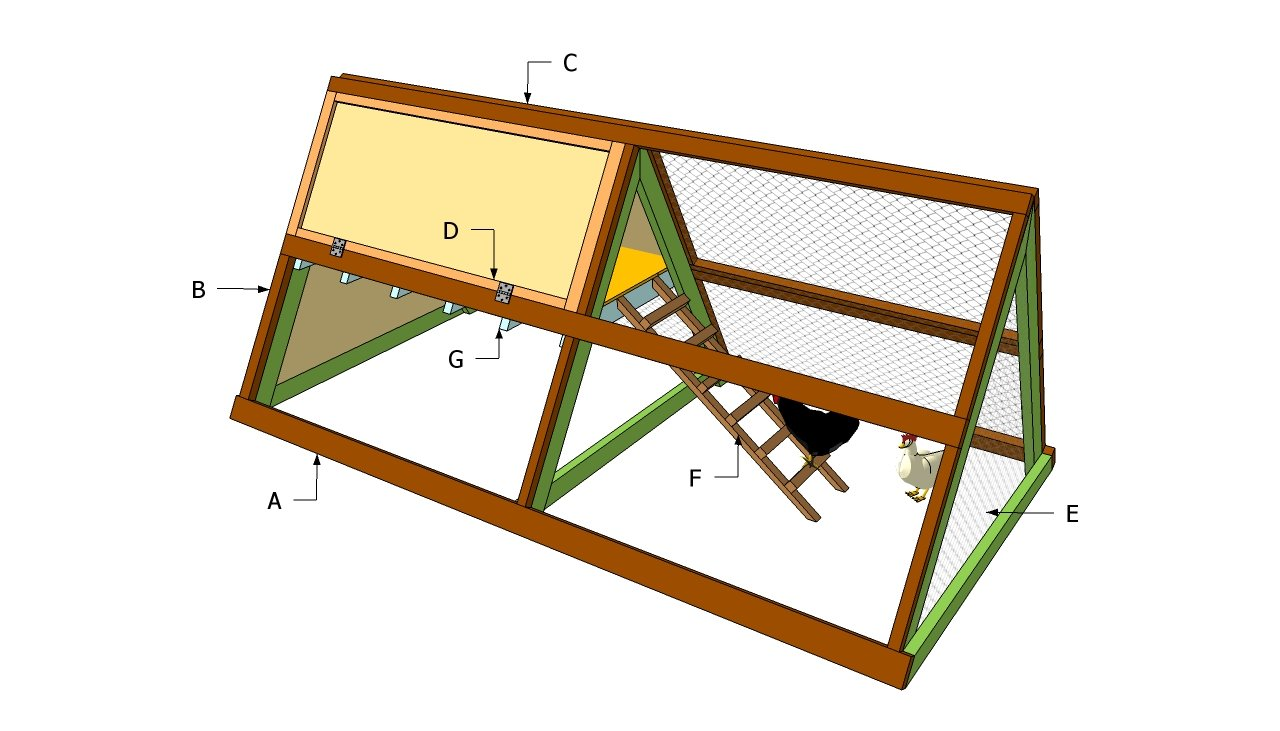 A frame chicken coop plans free outdoor plans diy shed for Frame plan
