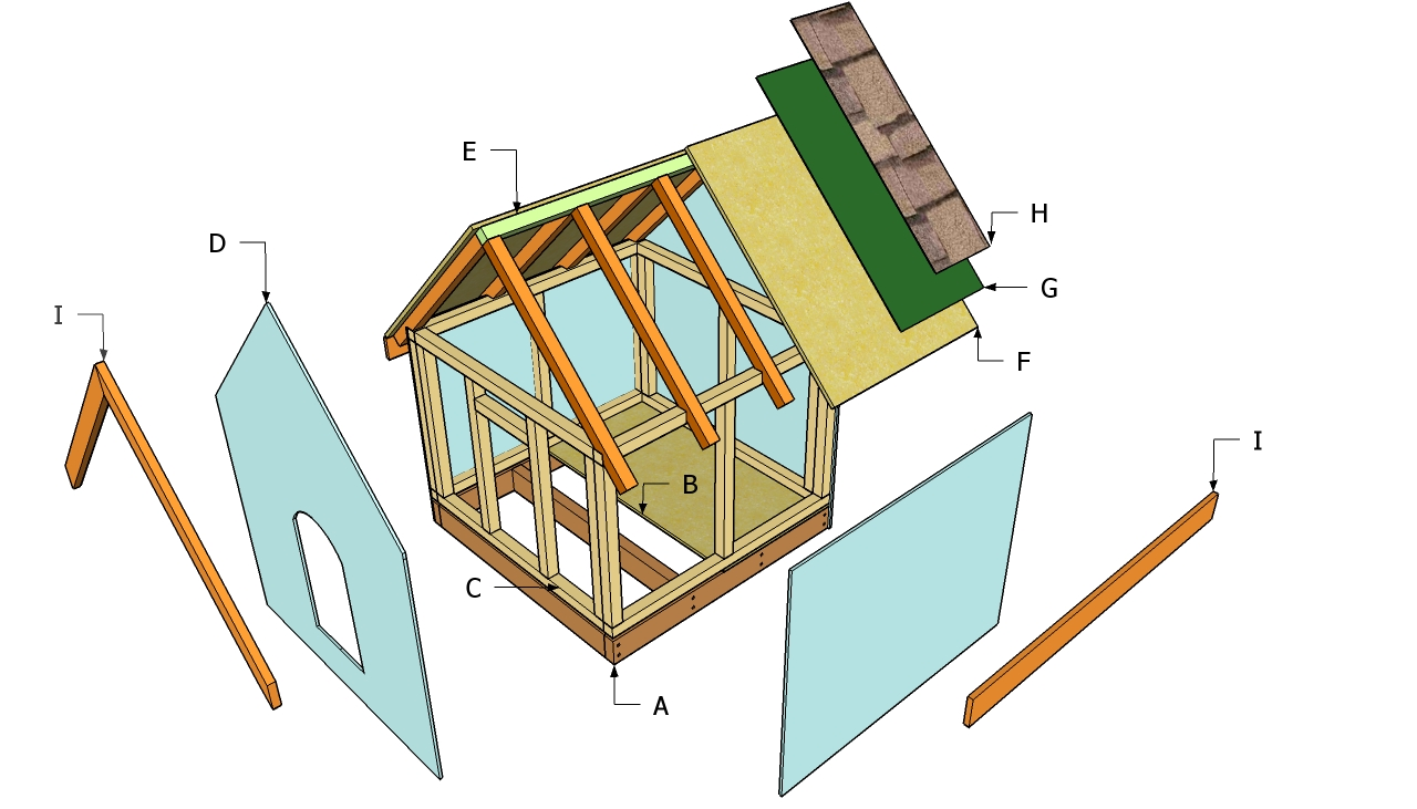 Large outside dog house plans plansdownload Simple house plans free