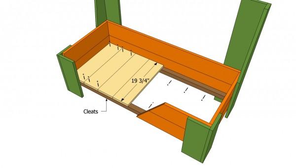 Storrage bench floor plans