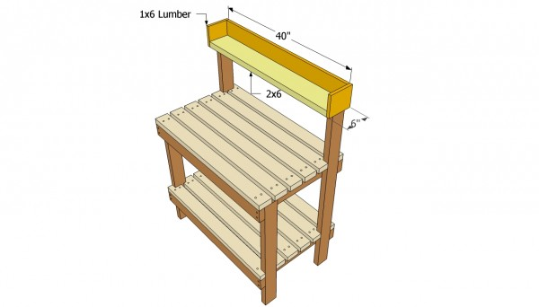 21 Brilliant Potting Bench Woodworking Plans