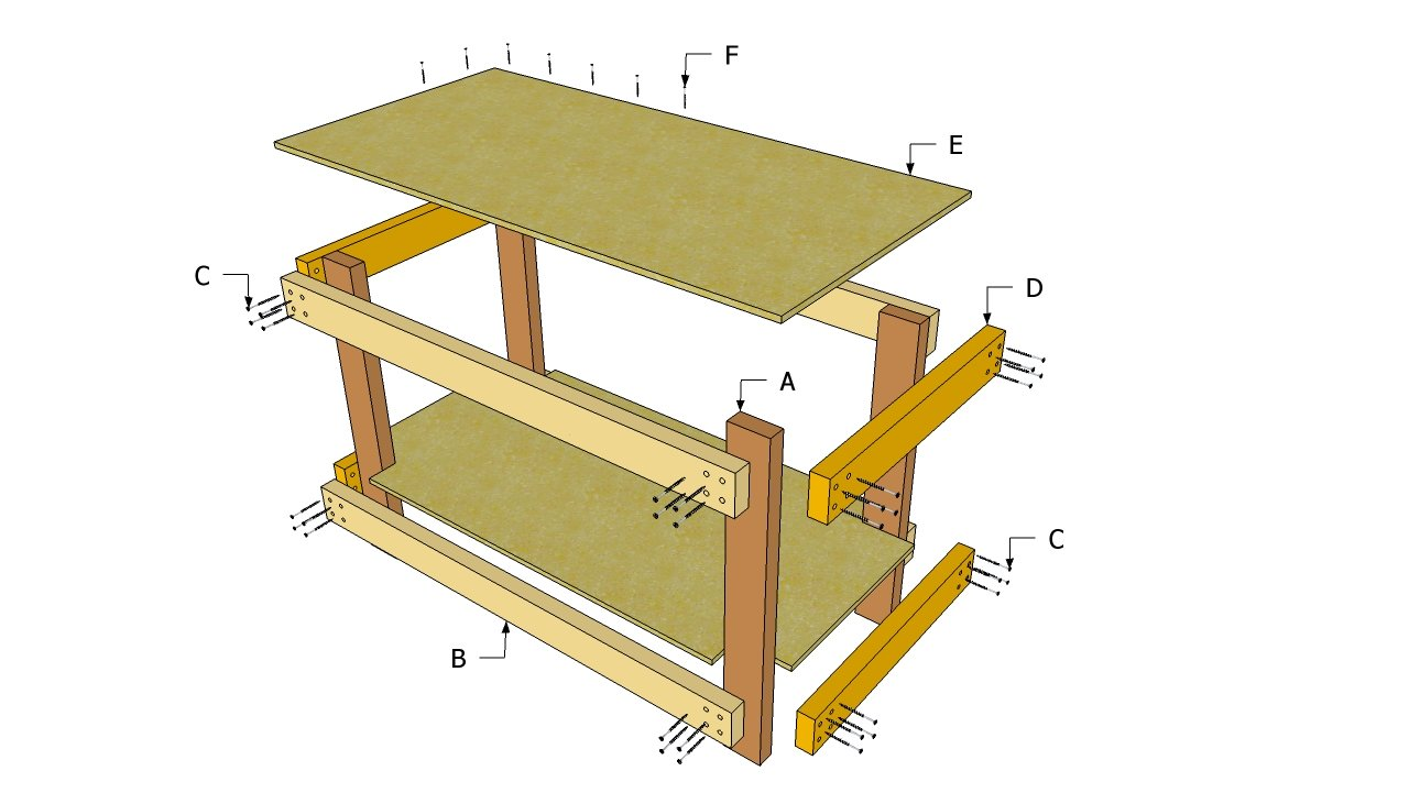 simple wood workbench plans