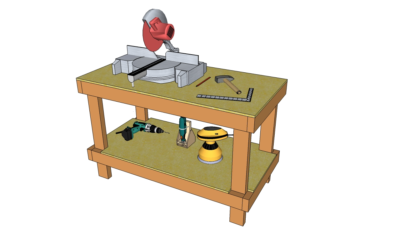 Workbench plans free 2×4 Workbench Plans DIY Wood Workbench
