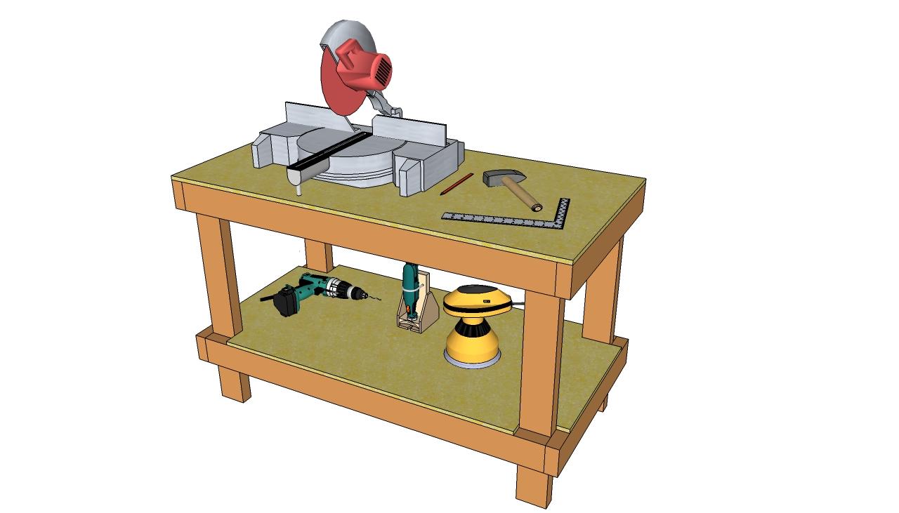 Diy workbench plans myoutdoorplans free woodworking for Backyard shop plans