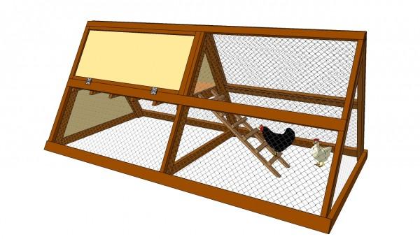 A frame checken plans