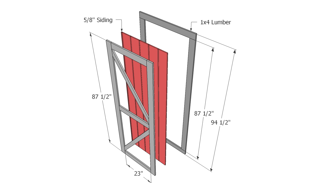 How to build double shed doors · shed door plans