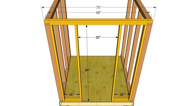 Shed door frame plans