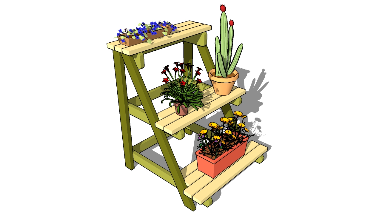 Wooden plant stands plans pdf woodworking How to build a tiered plant stand