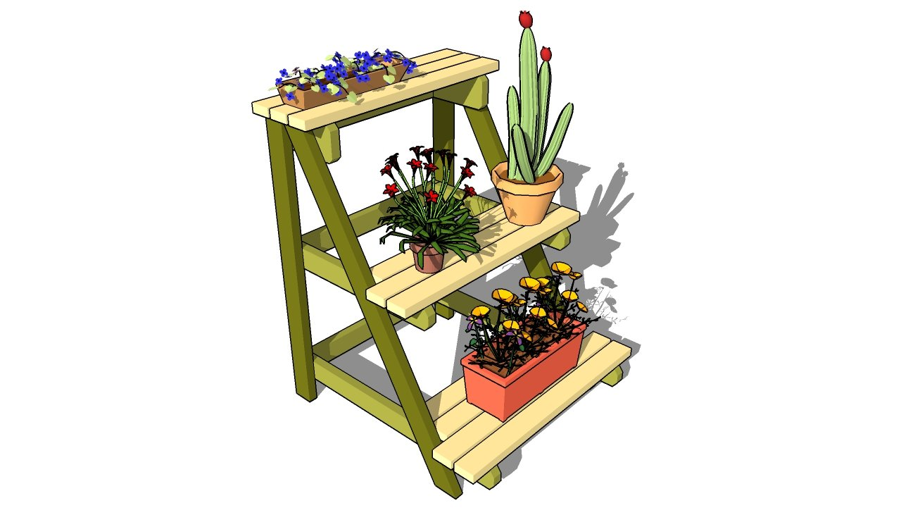 Woodwork Diy Outdoor Plant Stand Ideas Plans Pdf Download