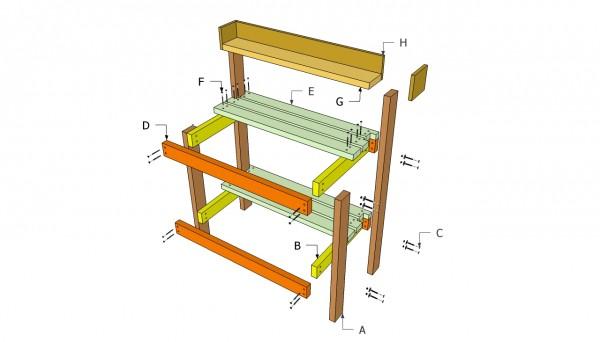 Potting bench plans free myoutdoorplans free for Potting shed plans diy blueprints