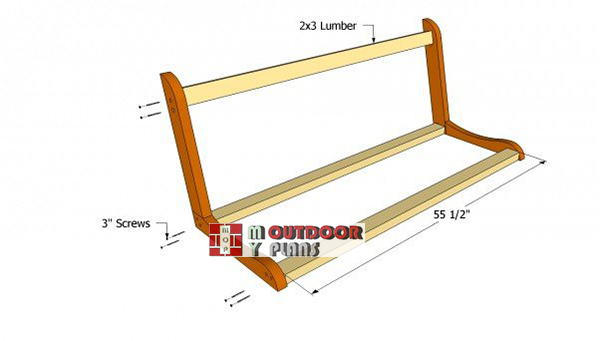 Assembling-the-frame-of-the-porch-swing