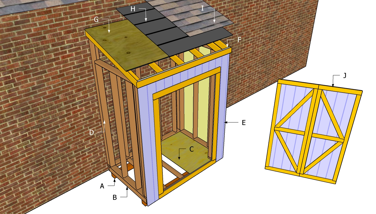 Free Lean to Shed Plan
