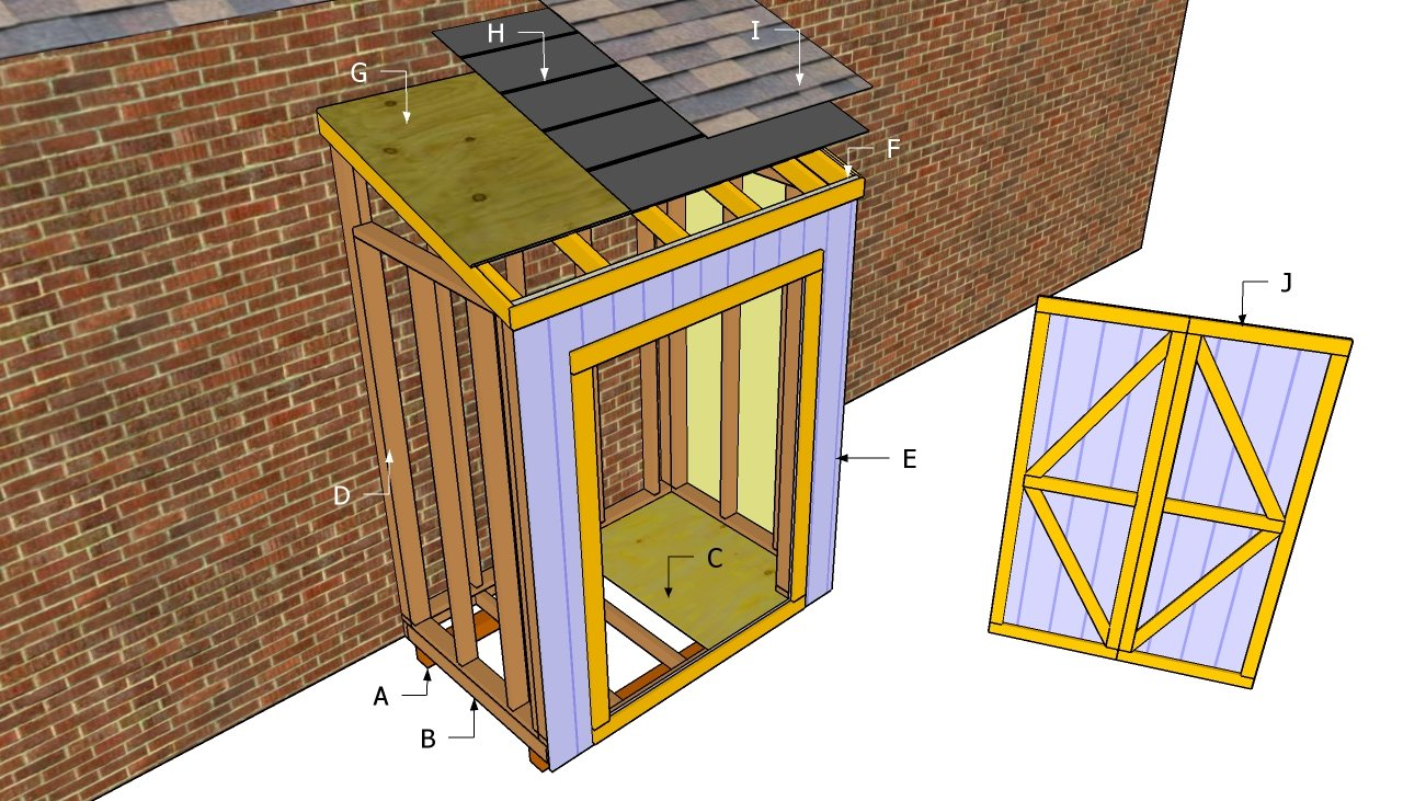 Free lean to shed plans free outdoor plans diy shed for Free playhouse plans