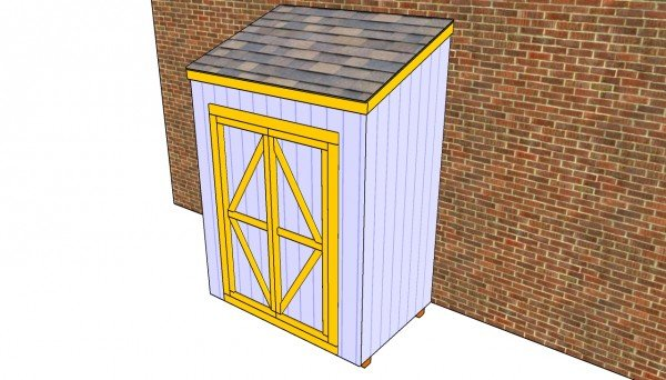 Attached shed plans