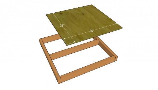 Attaching the flooring sheet