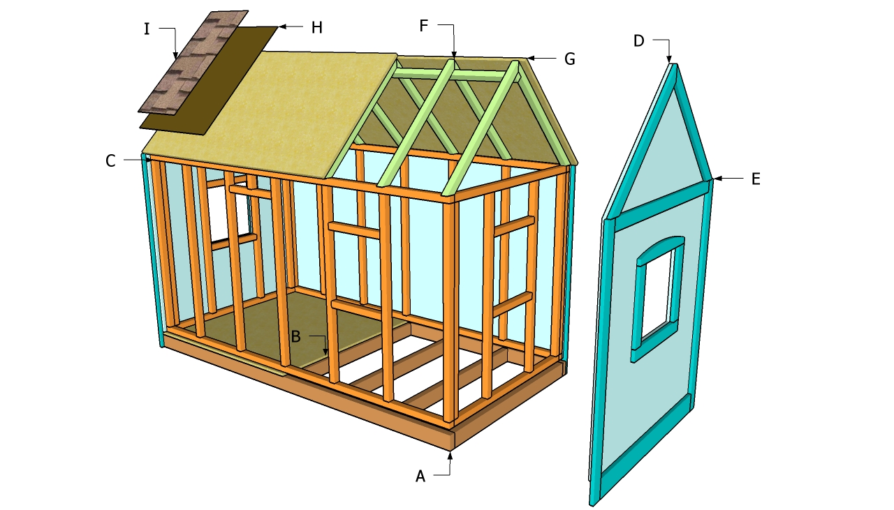 children outdoor wooden playhouse plans