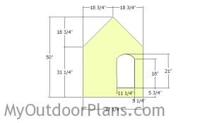 Build the front face of the dog house