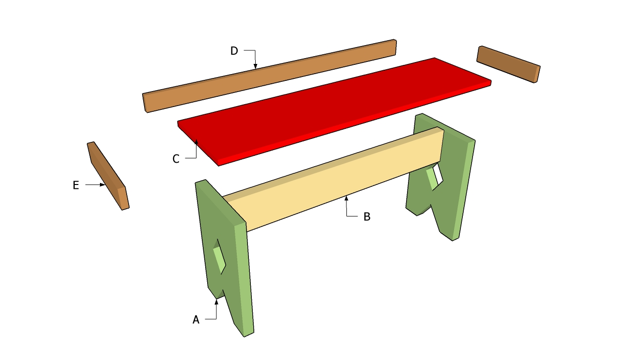 ... Simple Outdoor Bench Plans Download simple wood desk plans | woodideas