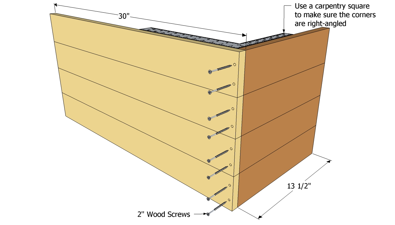 wooden box planter plans
