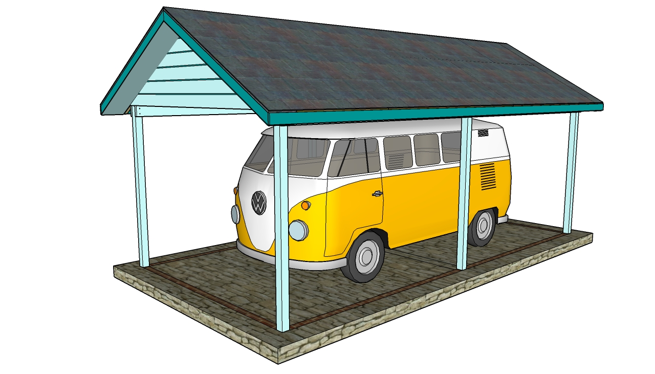 Attached carport plans myoutdoorplans free woodworking for Timber carport plans
