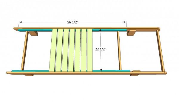 Installing the seat slats