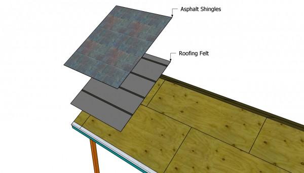 Installing the asphalt shingles