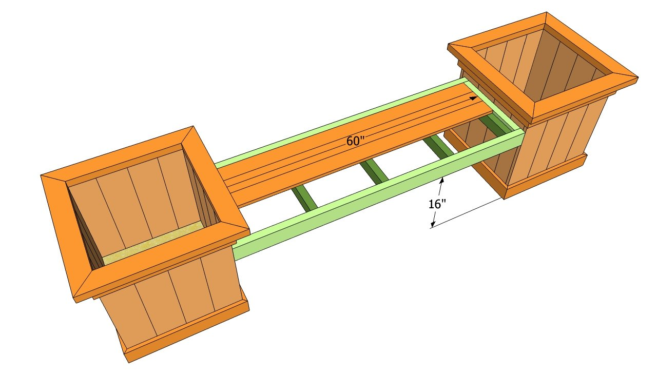 Free Planter Box Bench Plans