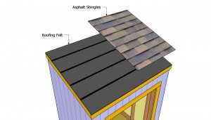 Installing the shingles