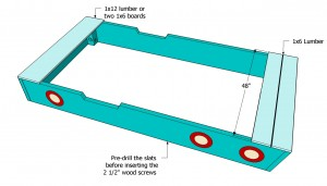 Installing the top slats