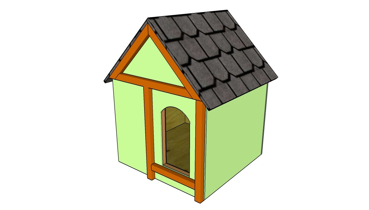 Simple dog house plans myoutdoorplans free woodworking for Insulated outdoor dog house
