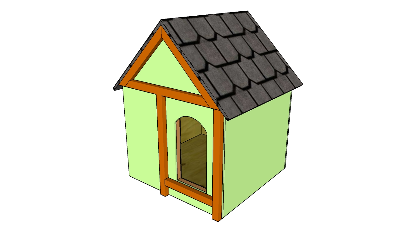 Simple dog house plans myoutdoorplans free woodworking for Diy home building plans